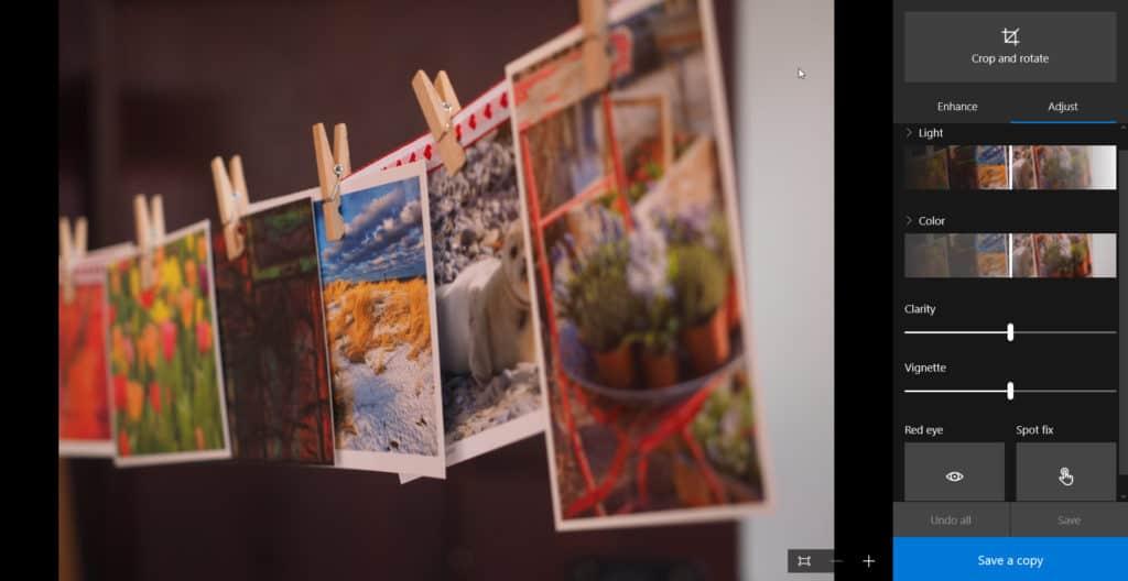 Native Organizing, Part 5: Editing in the Windows 10 Photos App