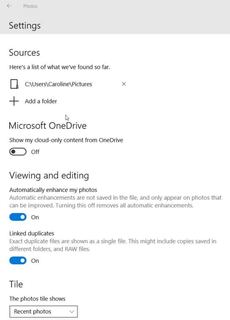 how to add a folder to photos windows 10