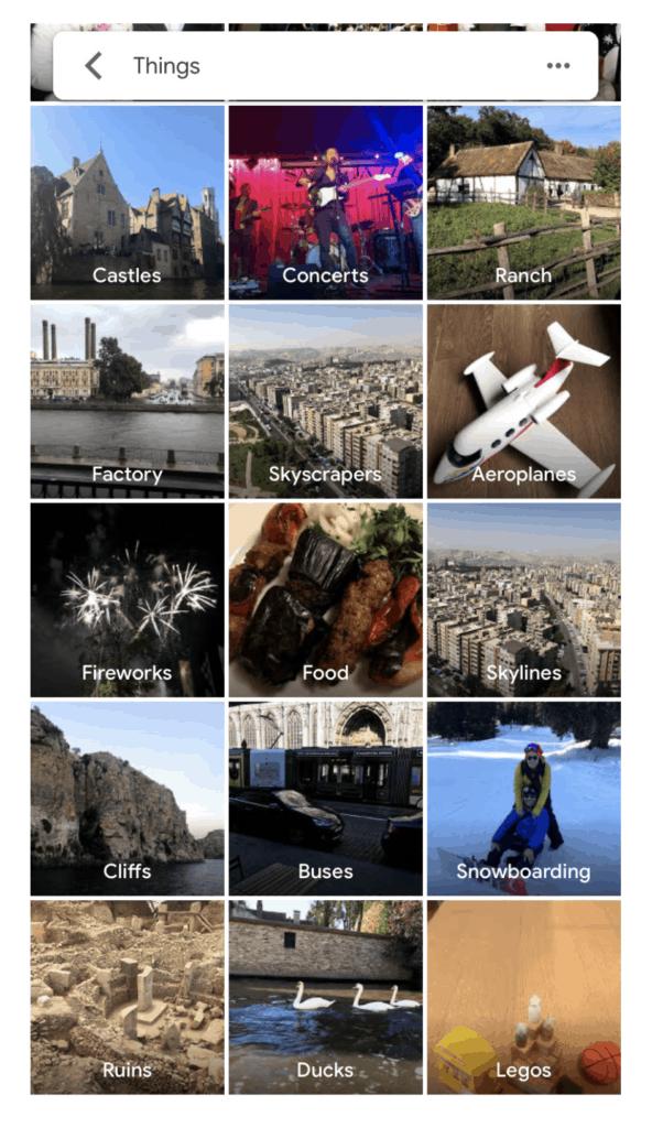 Google Photos Places