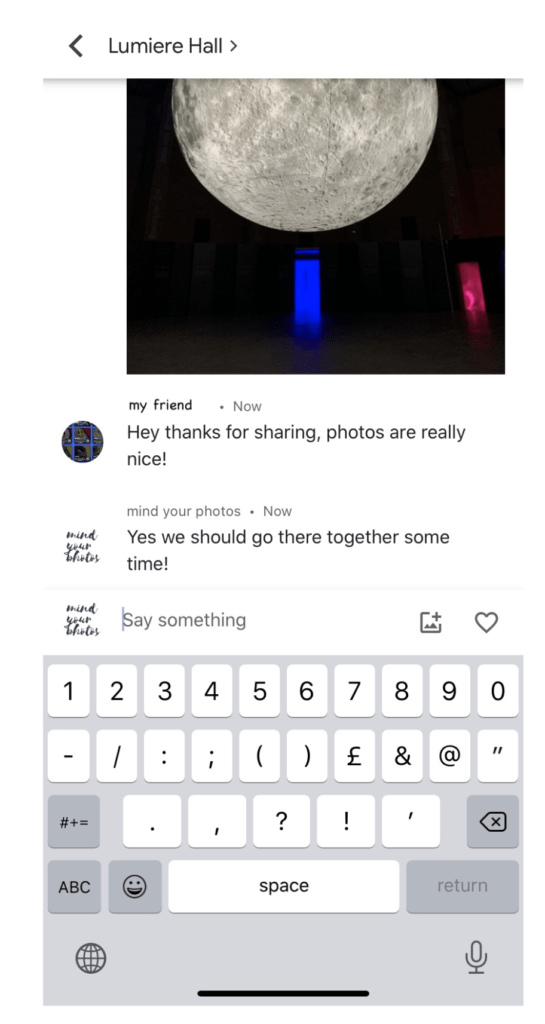 Google Photos Private Chats